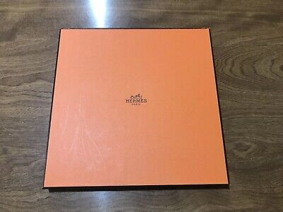 HERMES Paris Gift Box Orange Square AUTHENTIC Scarf Storage
