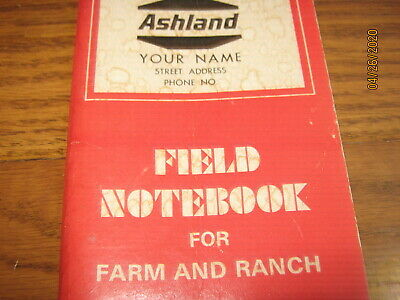 Ashland Motor Oil Gas Station 1973 Field Notebook  Farm and Ranch