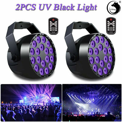U'King 2pcs18 LED UV/RGB Par Light  DMX Stage Lighting DJ Disco Wedding Remote