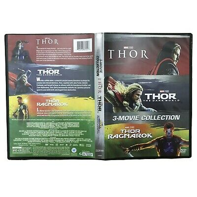 Thor 3 Film Movie Collection DVD Box Set 1-3 Trilogy Complete Season Fast Ship