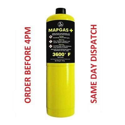 Mapp Map Pro Plus Gas Disposable Bottle Plumbers Burner Cylinder 400G ( Hrms )