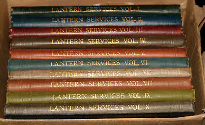 Rare Set 10 Volumes of Lantern Services Books by Newton & Co. Religious c1946