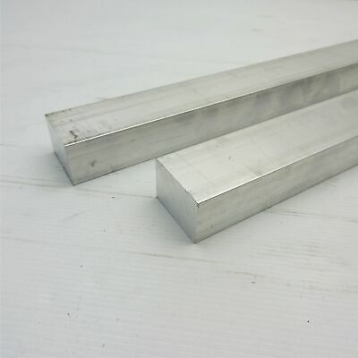 "1.25"" x 1.5"" Aluminum 6061 FLAT BAR 15"" Long new mill stock QTY 2 sku L613"