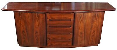 Mid Century Modern Danish Credenza by Skovby Rosewood Bow Front Buffet Console