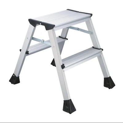 2Work Mini 2-Step Ladder Metal 460mm - FREE NEXT WORKING DAY DELIVERY