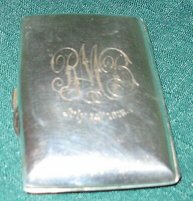 Rolason Brothers, Birmingham 1914, WWI  Sterling Silver Cigarette Case