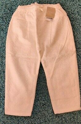 Girls 2-3 Years 24-36 Months Next White Summer Trousers *NEW with TAGS*