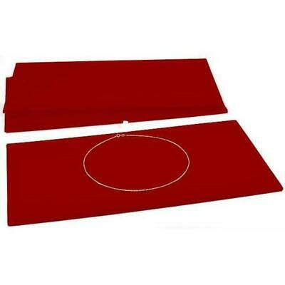 3 Chain Jewelry Pad Red Velvet Tray Insert Case Display