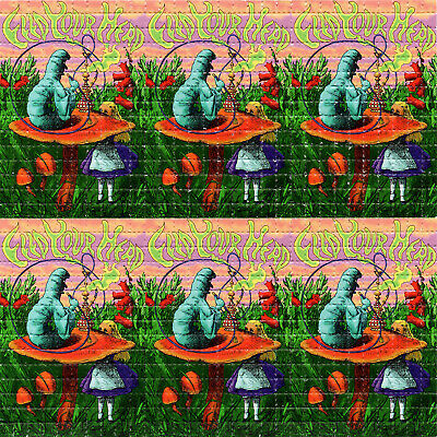 Feed Your Head Alice X9 BLOTTER ART perforated sheet paper page psychedelic art