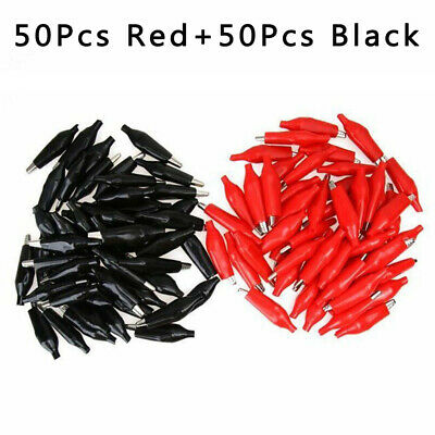 100Pcs/Set 36mm Alligator Leads Crocodile Clips For Electrical Jumpe Wires Cable