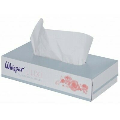 2 Ply White Facial Tissues 36 Packs X100 FF0104CO Whisper Top Quality Product