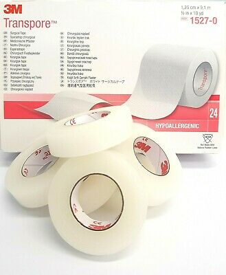 Transpore | 1.25 Cm | Hypoallergenic Waterproof Adhesive Tape | Choose Quantity