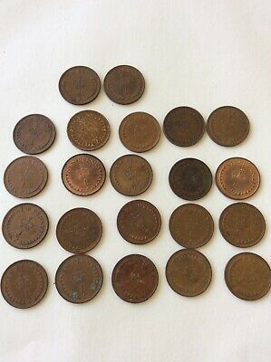 HALF NEW PENNY COINS (22 Pennies) CIRCULATED CONDITION ISSUED BETWEEN 1971-1981