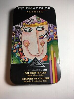 Prismacolor Premier Colored Pencils Soft Core  Color Set 24 Pack Pencil Open