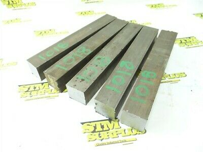 "31Lbs 1018 Solid Steel 1-1/2"" Square Stock 9-3/4"" To 10-1/4"" Lengths"