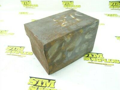 """27Lb 1018 Solid Steel Square Stock 4"""" X 4"""" X 5-3/4"""""""
