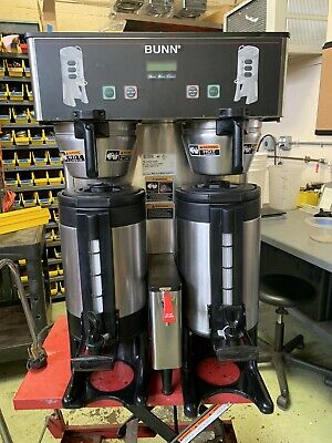 Bunn Dual TF DBC Twin Thermal Fresh Automatic Coffee Brewer with faucet