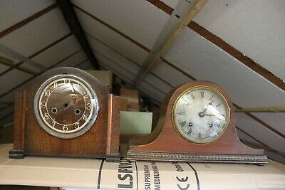 Wellington Hat Striking mantle clock  & a Mantle clock case for spares/repairs