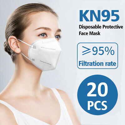 20pcs KN95 Protective Face Mask CE Certified mask Standard anti viral 4 layer