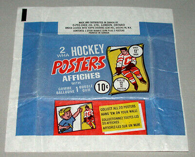 1973-74 O-Pee-Chee WHA Hockey Poster Empty Wrapper Wax Pack