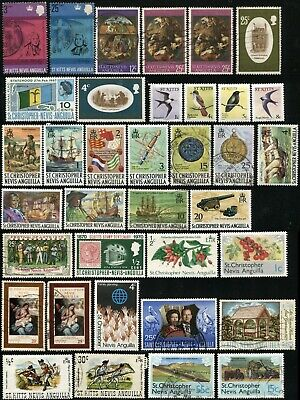 St Kitts Christopher Nevis Anguilla Postage Stamps British Commonwealth Used MLH