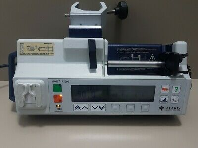 Alaris IVAC P7000 Syringe Pump Infusion UNIVERSAL recognize many syringes