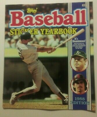 1988 Topps Baseball Yearbook + 6 packs stickers Album Save 10% off on 3+purchase