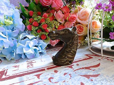 Vintage Horse Head Cast Iron - Old Horse Head Iron - Horse Head Bust