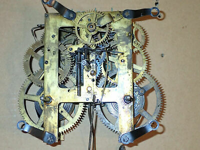 ANTIQUE INGRAHAM MOVEMENT with WOODEN CASE. for RESTORATION