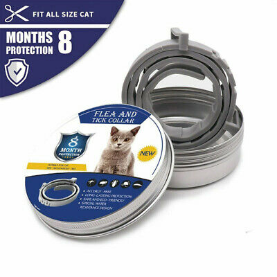 8 Month Flea & Tick Prevention Collar Pet Supplies Insect Repellent Neck Col Be