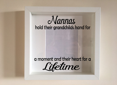 IKEA RIBBA Box Frame Personalised Vinyl Wall Art Quote 1st day at school boy