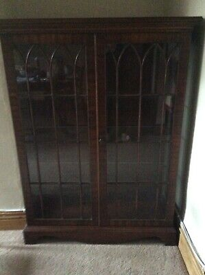 Bevan Funnell Reprodux Mahogany Display Cabinet