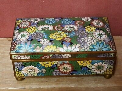 Old or Antique Japanese or Chinese Cloisonne Box