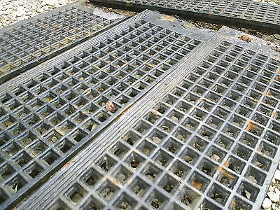 2 x Large Original Victorian Cast Iron Grills. Heavy Floor Grate Covers