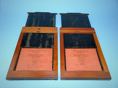 Two Eastman Portrait No 1 Film Holders (half plate)- very good vintage condition