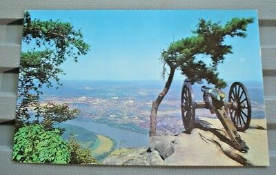 Postcard Vintage Confederate Battery Lookout Mountain Tennessee