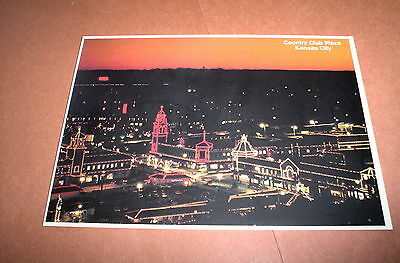 Postcard Vintage Country Club Plaza Kansas City Aerial View