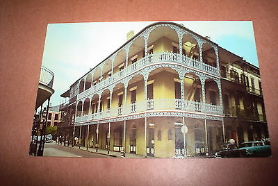 Postcard Vintage Lace Balconies Royal Street New Orleans