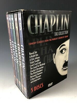 Charlie Chaplin The Collection - Box Set: Volumes 1-5 (1999, 5-DVD Set) Dolby