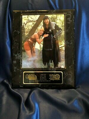 VERY RARE LIMITED EDITION of 250 Xena (Lucy Lawless) & Gabrielle Plaque