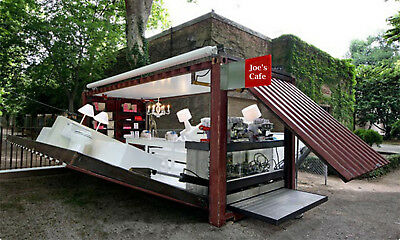 PORTABLE POP UP CAFE KITCHEN PARTY SUITE SHOP CUSTOM BUILT 160 SQUARE FEET 8x20