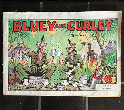 Vintage Australian BLUEY And CURLEY Comic WWII  Annual By Gurney