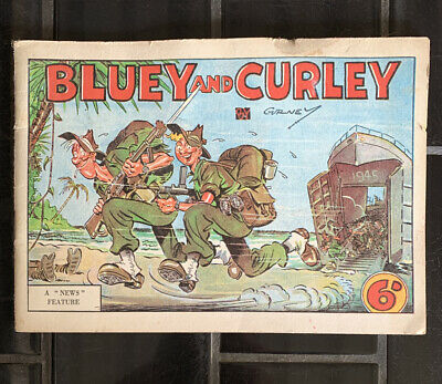 Vintage Australian BLUEY And CURLEY Comic WWII  Annual By Gurney 1945
