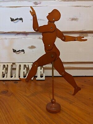 Antique European? Wooden Folding Adjustable Art Mannequin Collectables