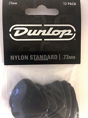 Dunlop Nylon Standard Guitar Picks Gray .73mm 12-Pack For Acoustic Or Electric