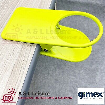 Quest Leisure Gimex Camping Caravan Garden Clip on Glass Cup Table Holder