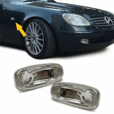 Eagle Eyes LED Side Lights Repeaters Chrome For Mercedes Benz Slk R170 1996-2004