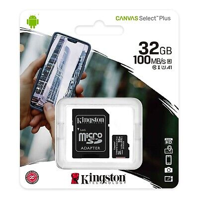 Kingston Micro SD SDHC memory Card Class 10 32GB Memory with SD card Adapter