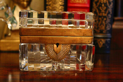 Antique Baccarat? Crystal Jewelry Box Casket