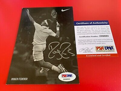 Roger Federer Tennis Signed Auto 4x6 PHOTO PSA/DNA Certified